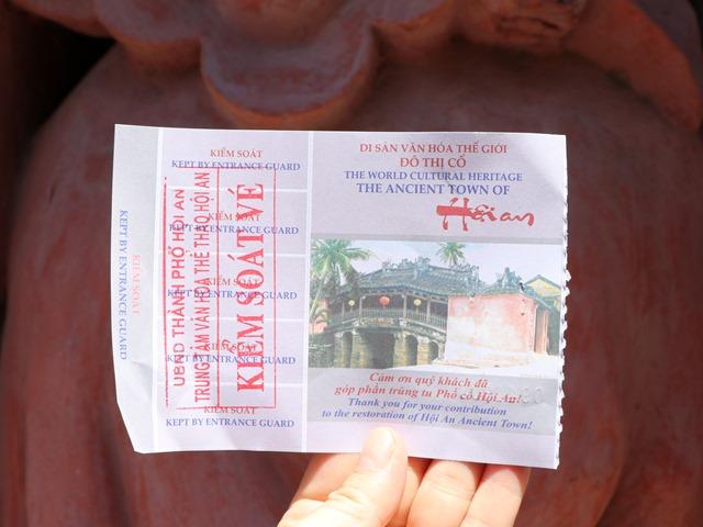 ホイアン旧市街の観光チケット
