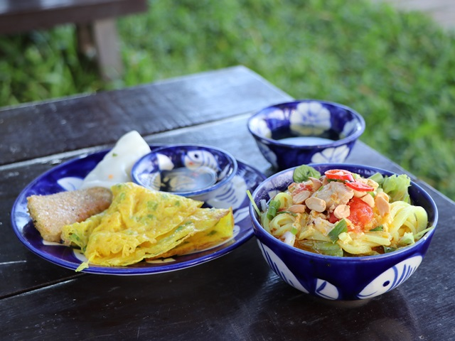 ビンフンリバーサイド・リゾート&スパで提供されるベトナム料理