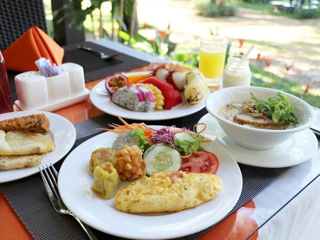 ビンフンリバーサイド・リゾート&スパの朝食