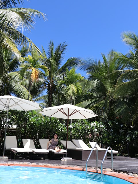 ホイアンのビンフンリバーサイド・リゾート&スパのプール