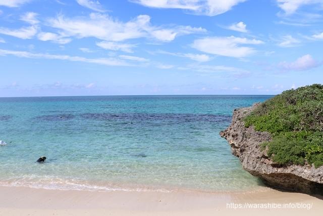 池間島のビーチ