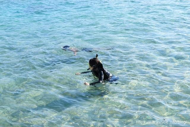 宮古島シギラビーチの近くでシュノーケリング