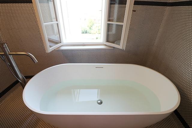 チェコ・ミクロフのホテル シュタインハウスのバスルーム