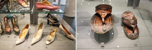 ズリーン履物博物館に展示されている靴