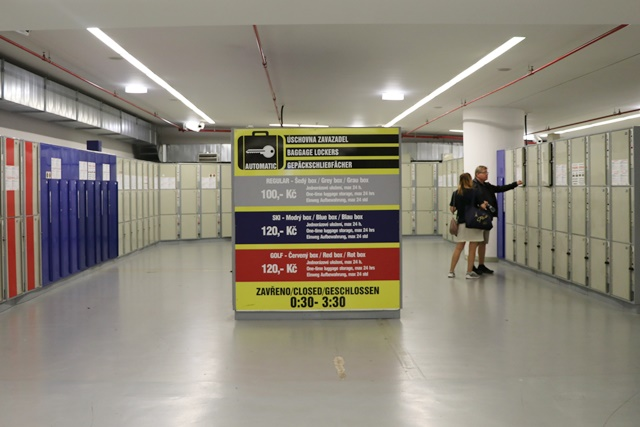 チェコ プラハ本駅のコインロッカー