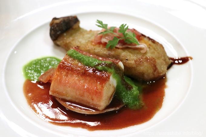 白身魚のポワレ 赤ワインソース