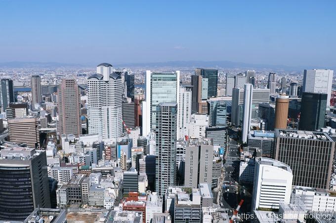 コンラッド大阪40階からの眺望