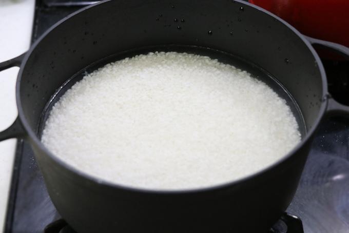 ダクタイルパンでお米を炊く