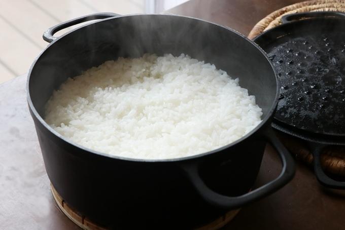 ダクタイルポットでお米を炊く