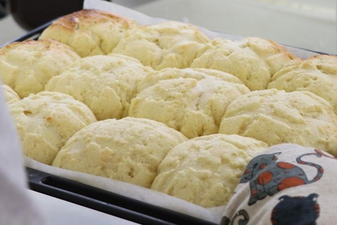 焼きあがったメロンパン