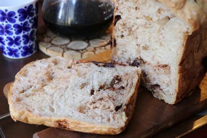 モカチョコチップくるみパン